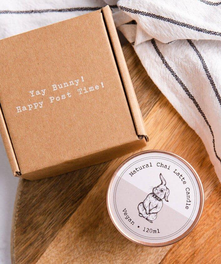 Vegan Bunny caja postal pequeña