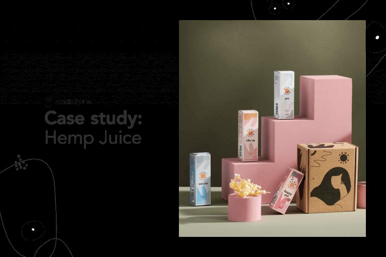 Hoe Hemp Juice trouw bleef aan zijn eco-missie en zijn verpakkingskosten verlaagde met 25% met Packhelp Plus