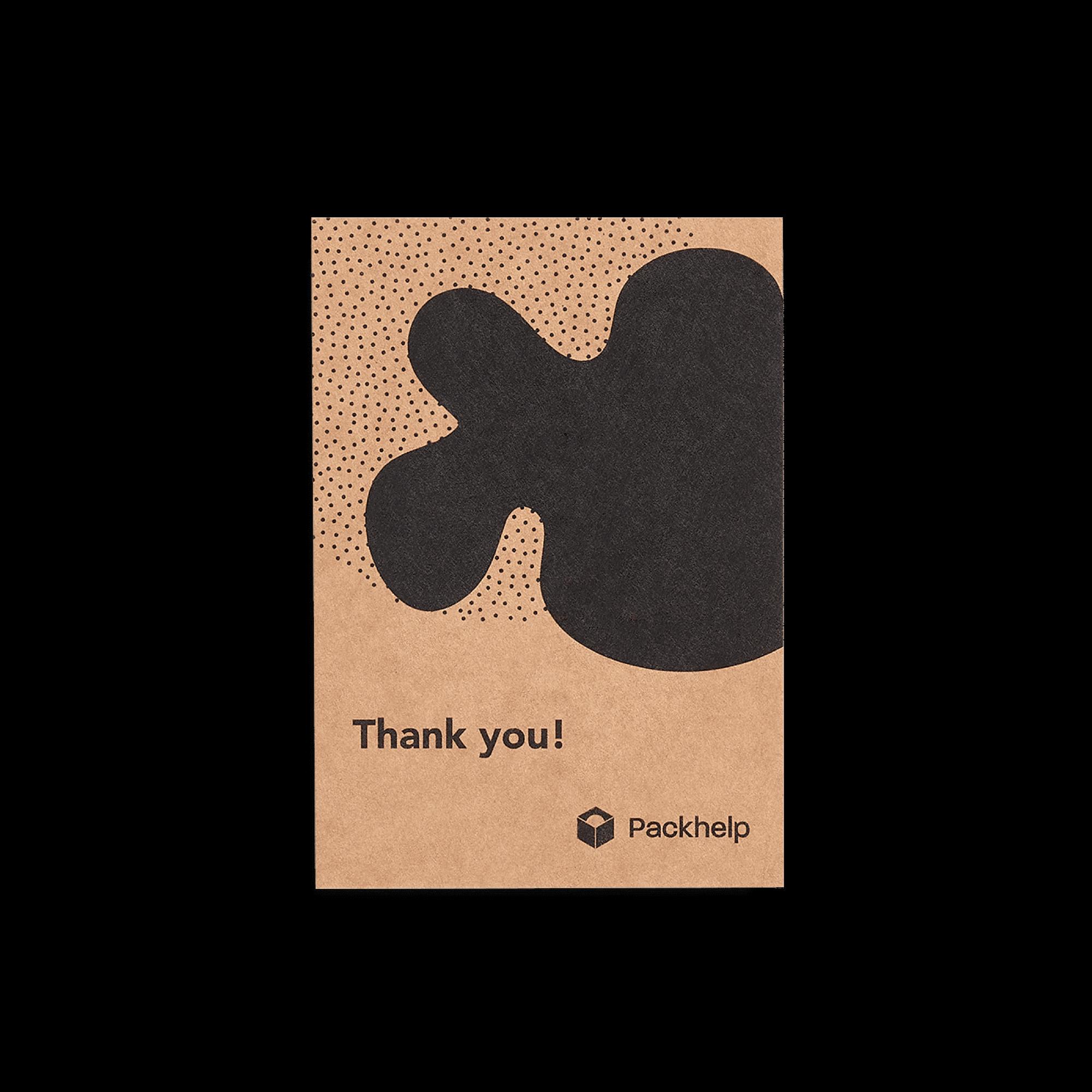 Carte de correspondance kraft personnalisée avec motif noir