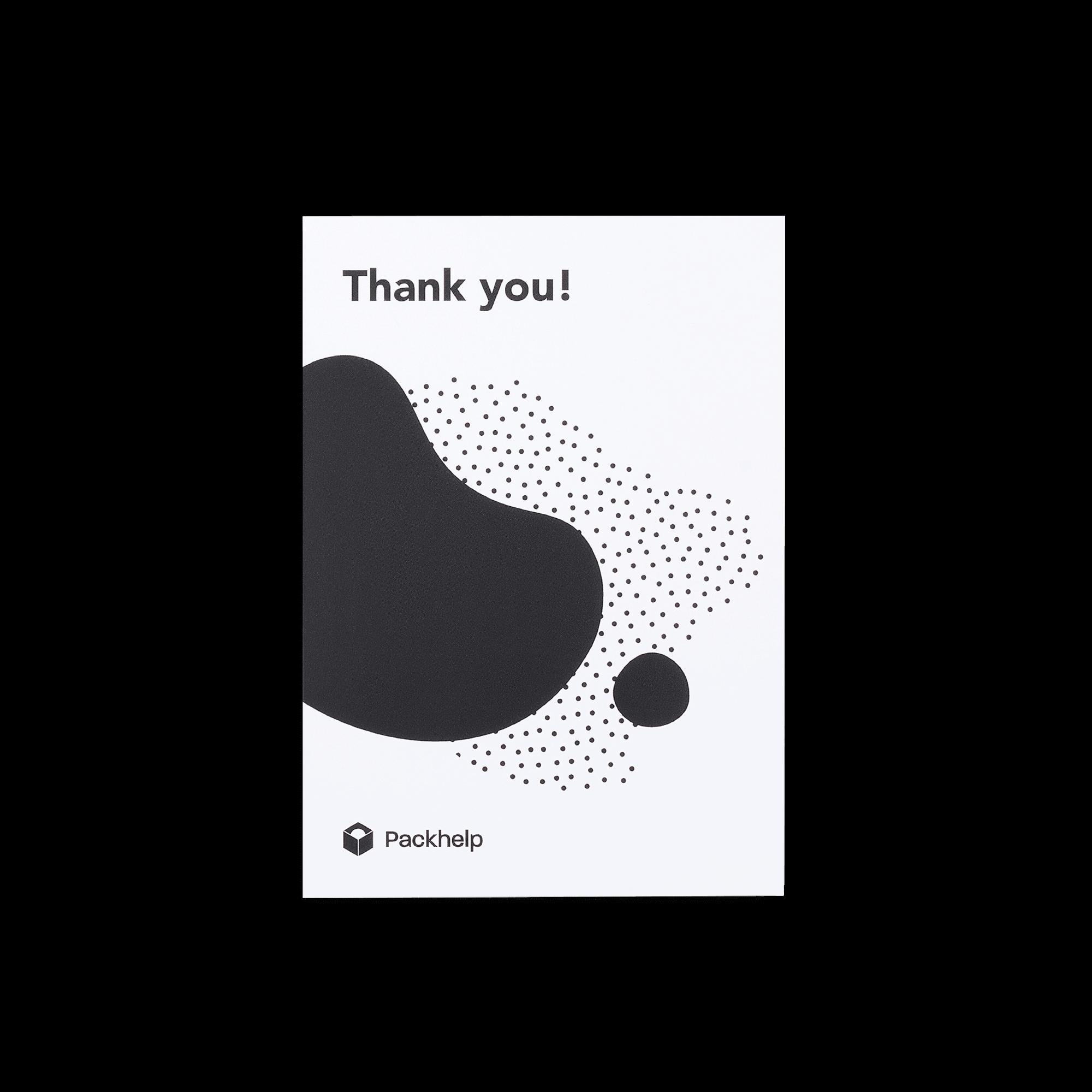 Carte de correspondance blanche personnalisée avec motif noir