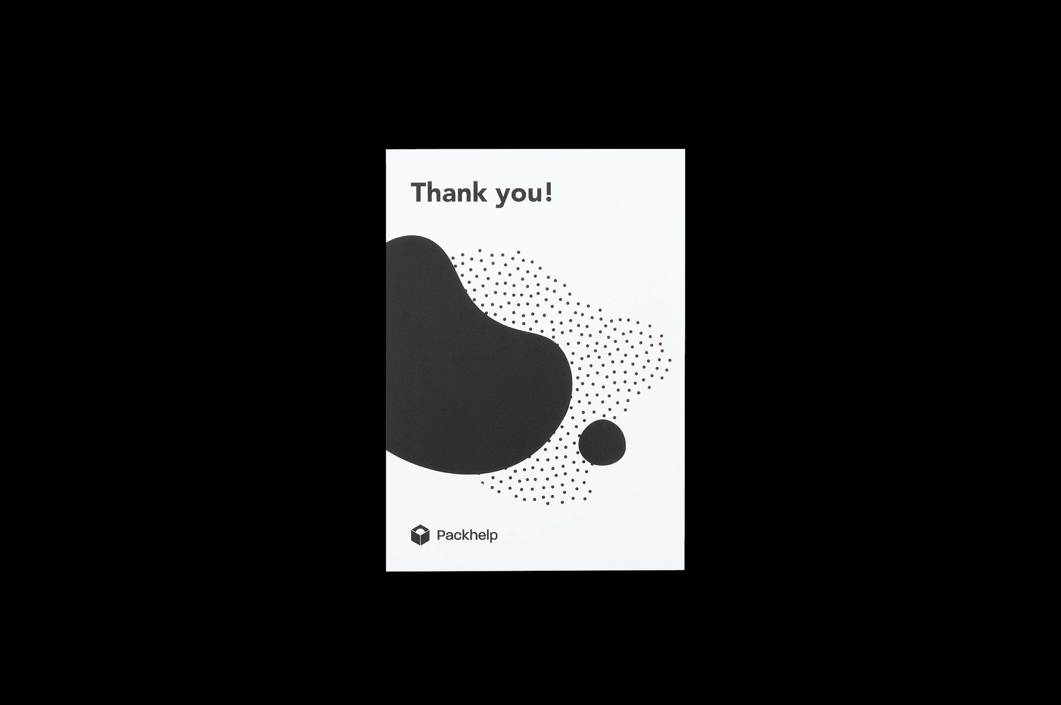 Tarjetas de agradecimiento personalizadas blancas