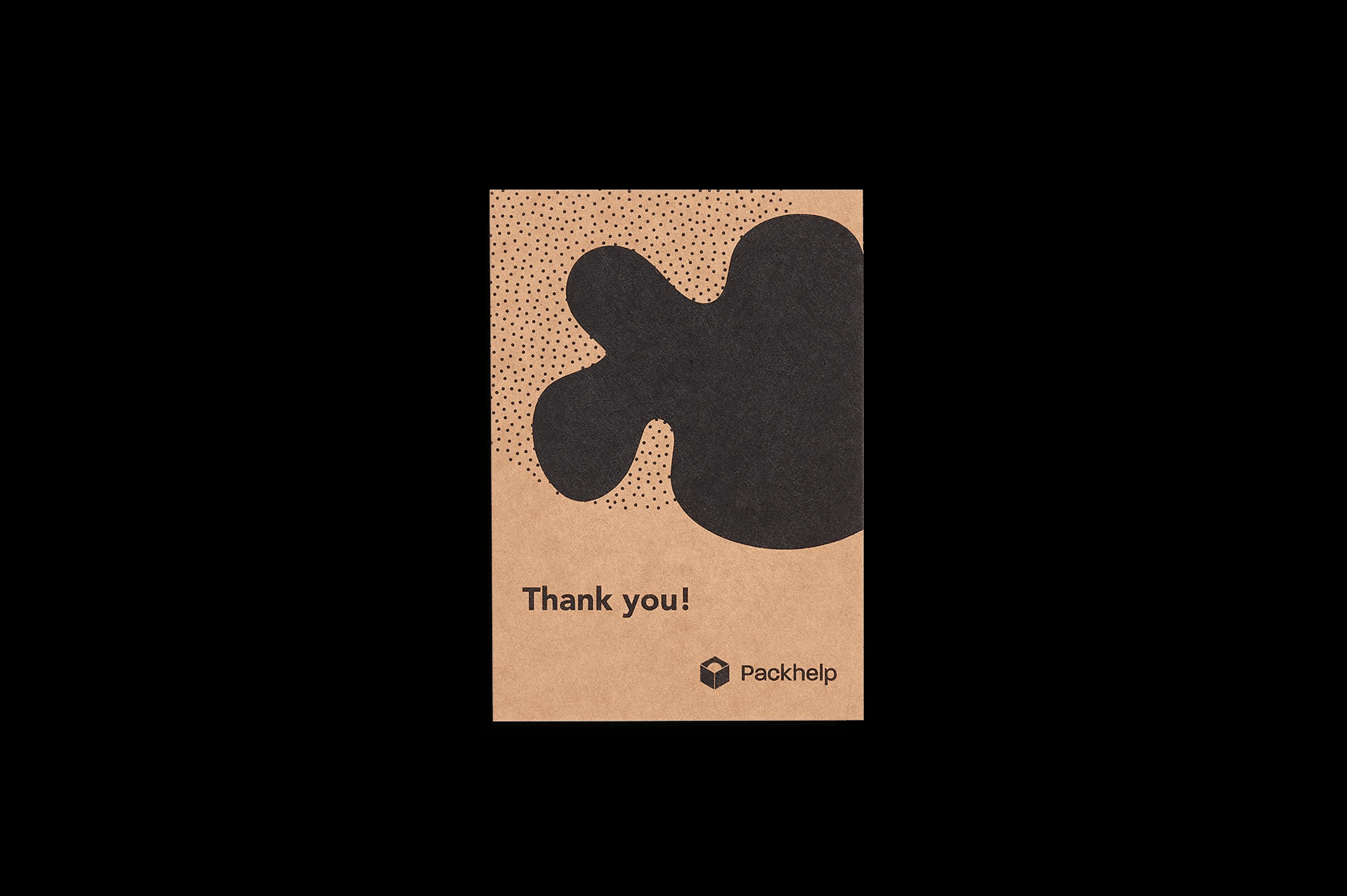Tarjetas de agradecimiento personalizadas en color Kraft