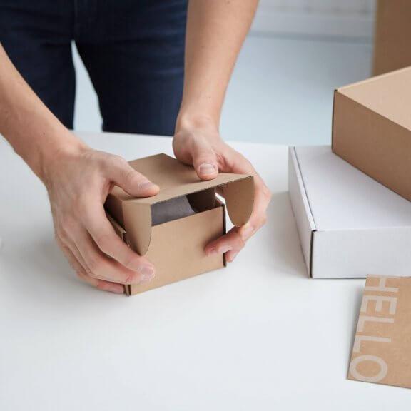 małe pudełko fasonowe kraft