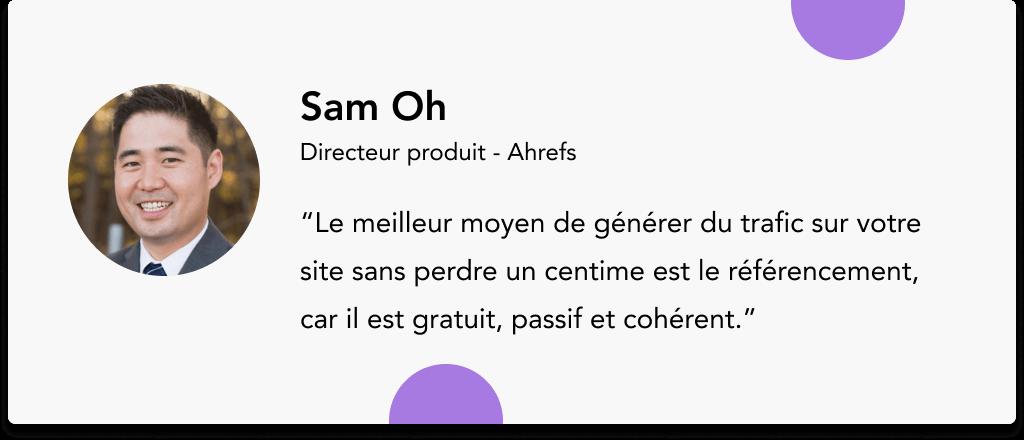 Sam Oh Ahrefs